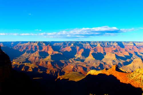 Overview of the landscape at Grand Canyon National Park, Arizona free photo