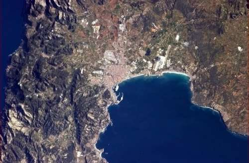 Palma pictured from the International Space Station in Spain free photo