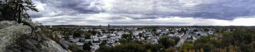 Panorama landscape of Manchester, New Hampshire from Rock Rimmon free photo