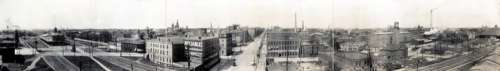 Panorama of downtown Erie in 1912 in Pennsylvania free photo