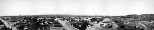 Panorama of Tombstone in 1909 in Arizona free photo
