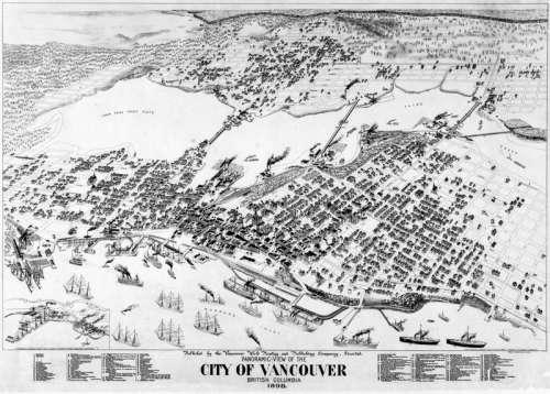 Panorama of Vancouver, 1898 in British Columbia free photo