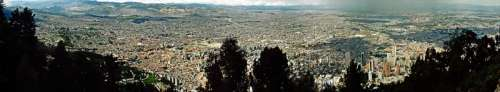 Panoramic Cityscape of the Metropolis of Bogota, Colombia free photo