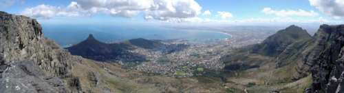 Panoramic landscape View of Cape Town, South Africa free photo