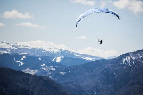 Parasailing over the Alps at Levico free photo