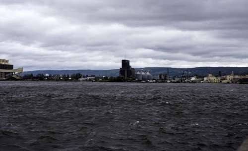 Partial Skyline of Duluth from Lake Superior in Minnesota free photo