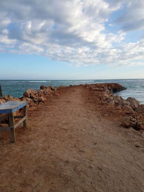 Pathway to the ocean in Kingston, Jamaica free photo