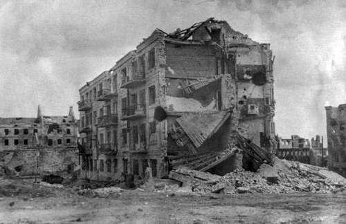 Pavlov's House in Stalingrad in World War II free photo