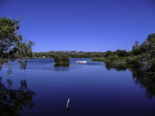 Peaceful landscape on a lake in Western Australia free photo
