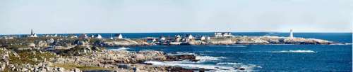 Peggy's cove and the lighthouse with the sea in Halifax, Nova Scotia free photo