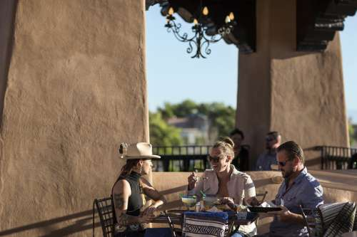 People Dining at the Bell Tower restaurant in Santa Fe, New Mexico free photo