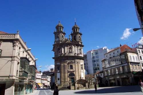 Peregrina Chapel in Pontevedra, Spain free photo