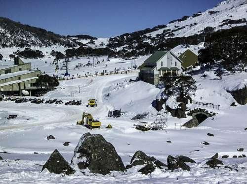 Perisher Valley Snow fields, New South Wales, Australia free photo