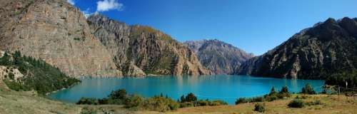 Phoksundo Lake in landscape in Nepal free photo