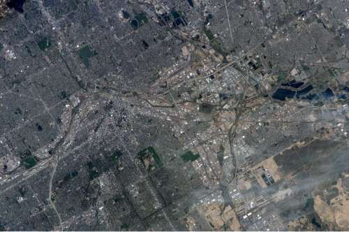 Photograph of Denver from Space in Colorado free photo