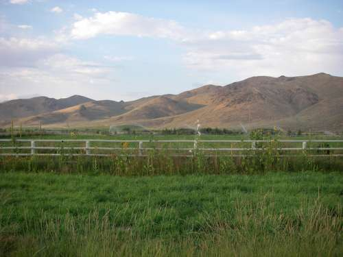 Picabo, Idaho landscape with mountains free photo