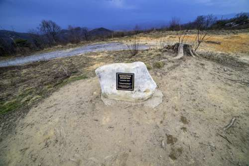 Plaque at the top of South Carolina at Sassafras Mountain free photo