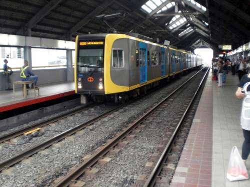 Platform area of Blumentritt LRT Station in Manila, Philippines free photo