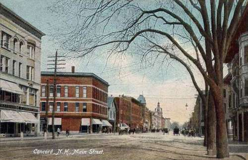 Postcard in 1908 of Concord, New Hampshire free photo