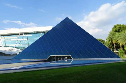 Pyramid structure in Bangalore, India free photo