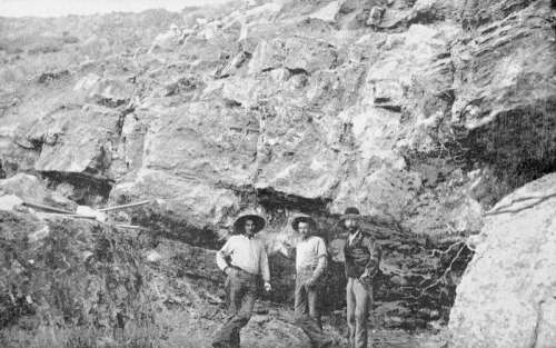 Quarry Opening at Cave Creek, Arizona 1893 free photo