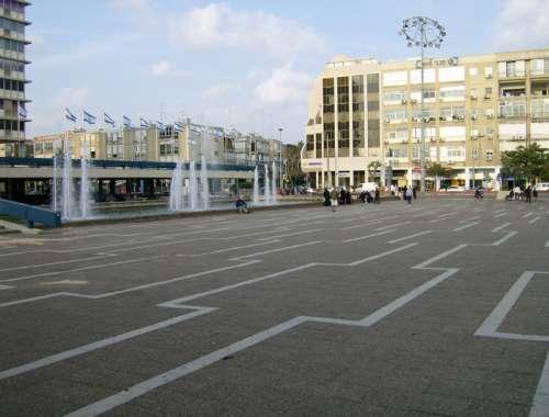 Rabin square in Tel-Aviv, Israel free photo