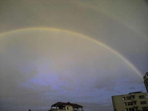 Rainbow over Hanoi, Vietnam free photo