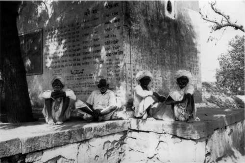 Rajasthani men resting in the shade, Rajasthan, India free photo