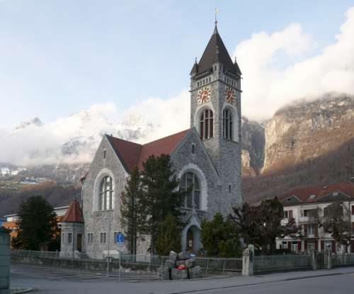 Reformed Church of Walenstadt, Switzerland free photo