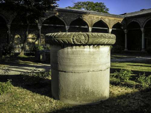 Remains of a Byzantine column  in Istanbul, Turkey free photo