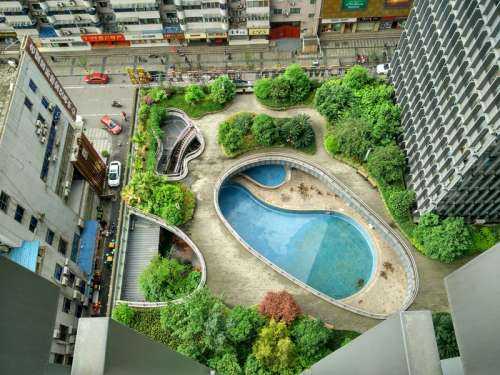 Resort with pools in Chengdu, Sichuan, China free photo