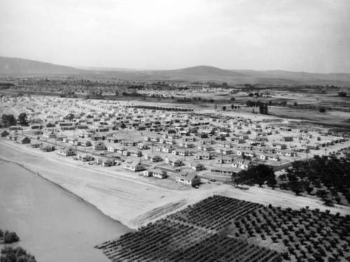 Richland during the early days of the Hanford project in Richland, Washington free photo