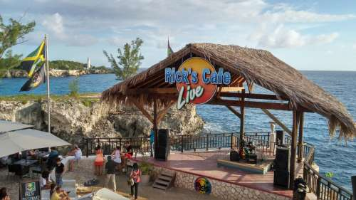Rick's Cafe Shack on the Beach in Negril, Jamaica free photo