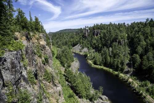 River, Canyon, Sky, and Landscape, at Eagle Canyon, Ontario free photo