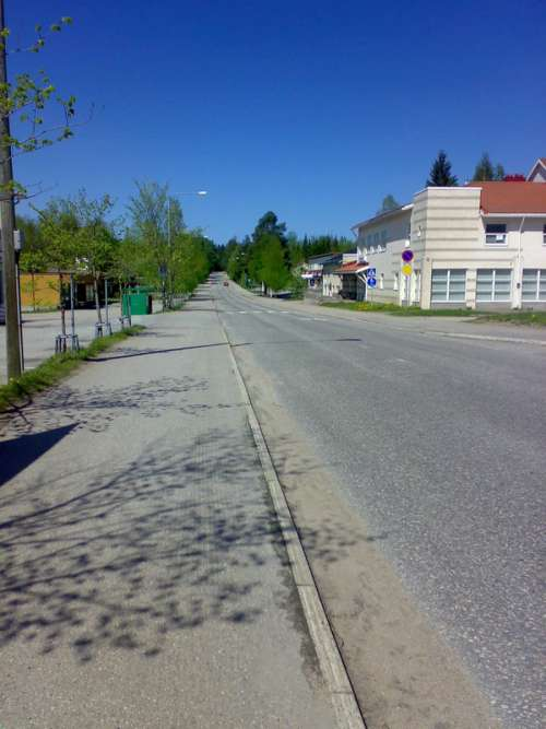 Road in Rautavaara, Finland free photo