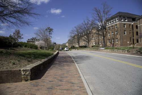 Road on the Campus of UNC Chapel Hill, North Carolina free photo
