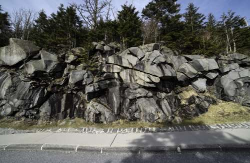 Rock Formations near Clingman's Dome, Great Smoky Mountains National Park, Tennessee free photo