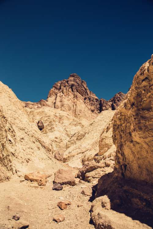 Rocks and hills in Death Valley National Park, Nevada free photo