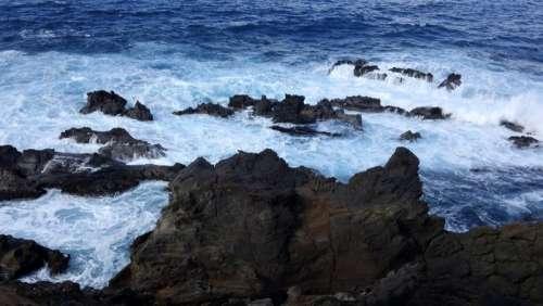 Rocky Coastline of Easter Island, Chile free photo
