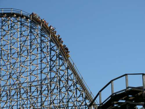 Roller Coaster Ride Amusement Park free photo