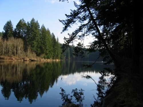 Round Lake Landscape near Camas, Washington free photo