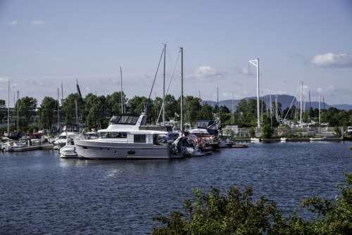 Rows of Boats in Marina in Thunder Day, Ontario free photo