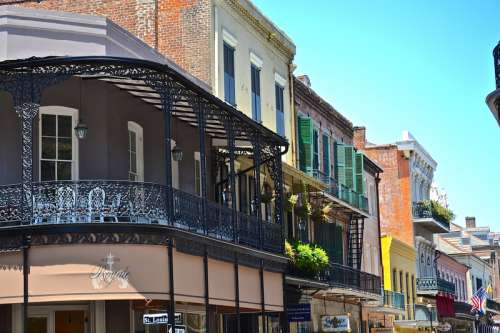 Rows of buildings along the streets of New Orleans, Louisiana free photo