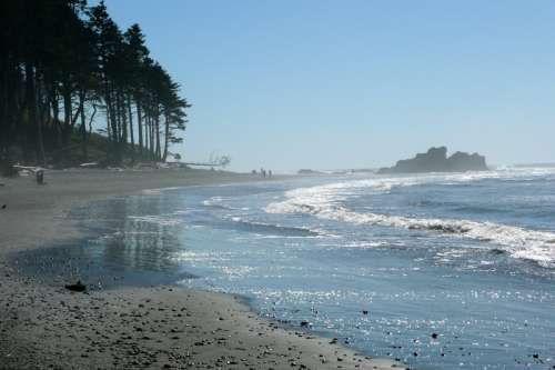 Ruby Beach with waves in Washington free photo