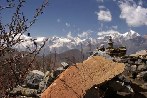 Ruins in the Mountains in Nepal free photo