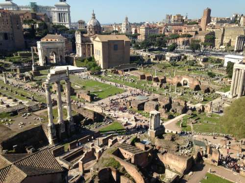 Ruins of Ancient Rome free photo