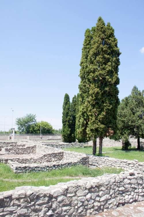 Ruins of Aquincum in Budapest, Hungary free photo