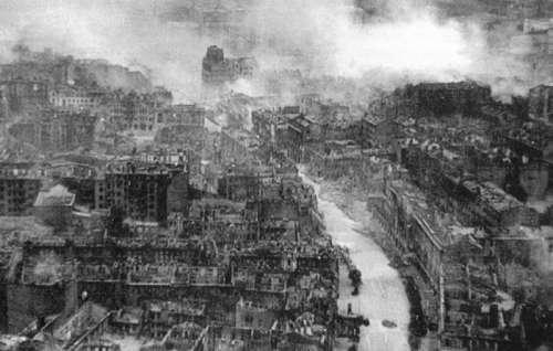 Ruins of Kiev during World War 2 in Ukraine free photo