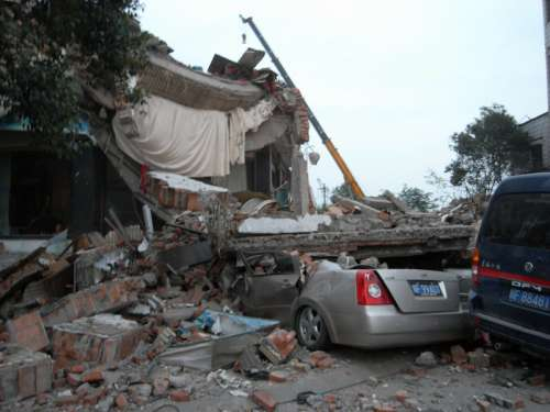 Ruins of the Earthquake in Sichuan, China free photo