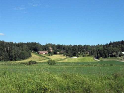 Rural hills of Sotunki in Finland free photo